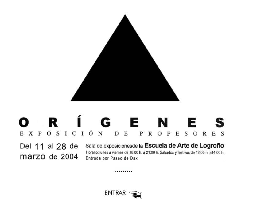 Exposición de Profesores: Orígenes. 2004