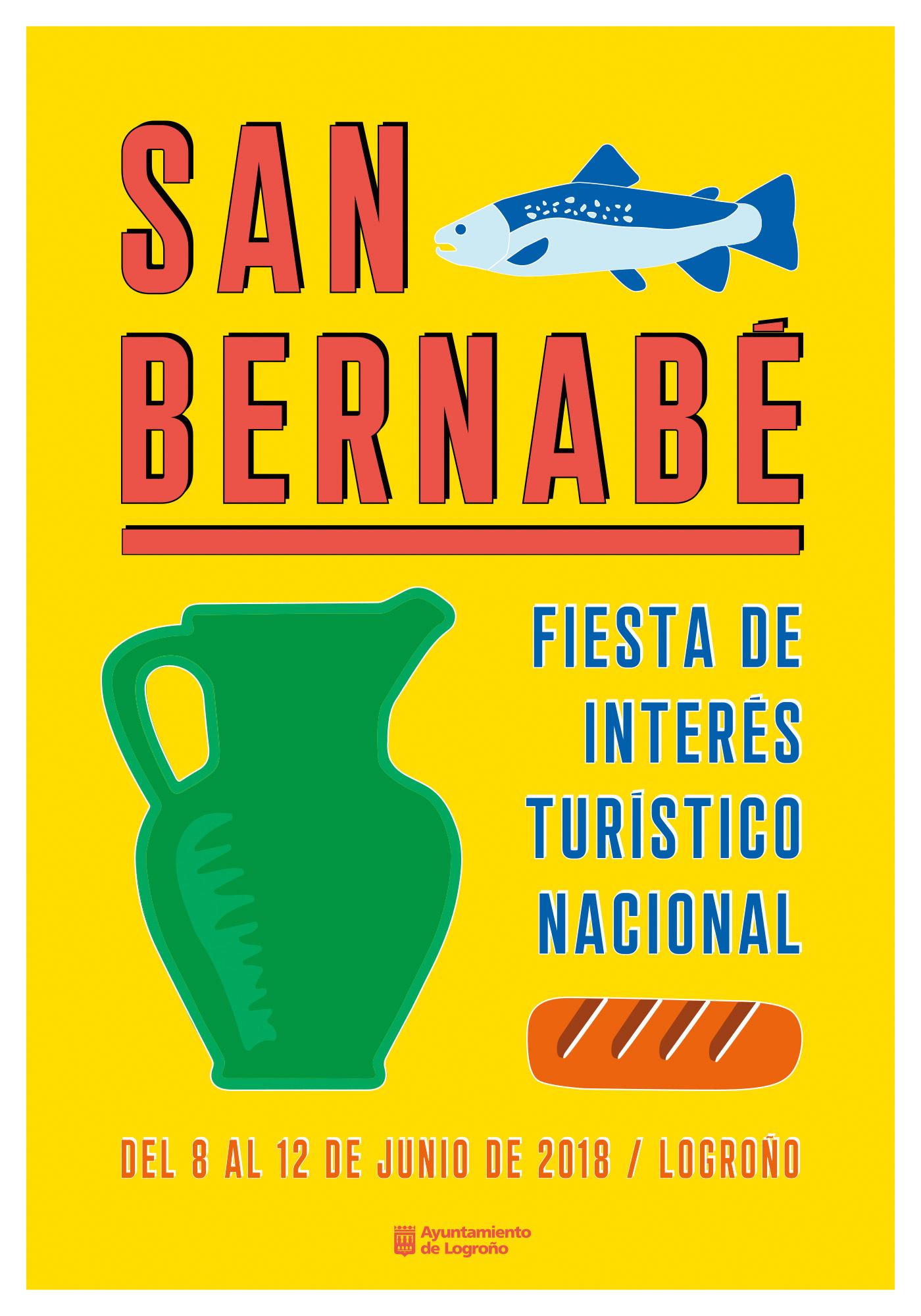 Elena Andráiz, alumna de 3º de Diseño Gráfico, autora del cartel de San Bernabé
