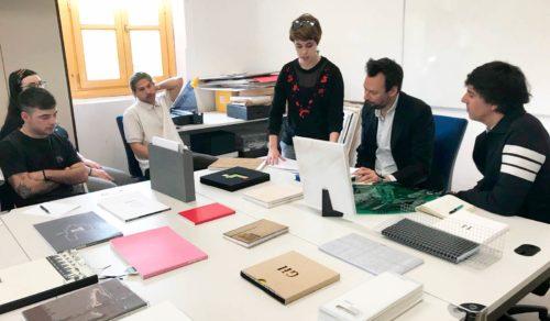 Taller de la Caniche Editorial con alumnos de 3º de Diseño Gráfico