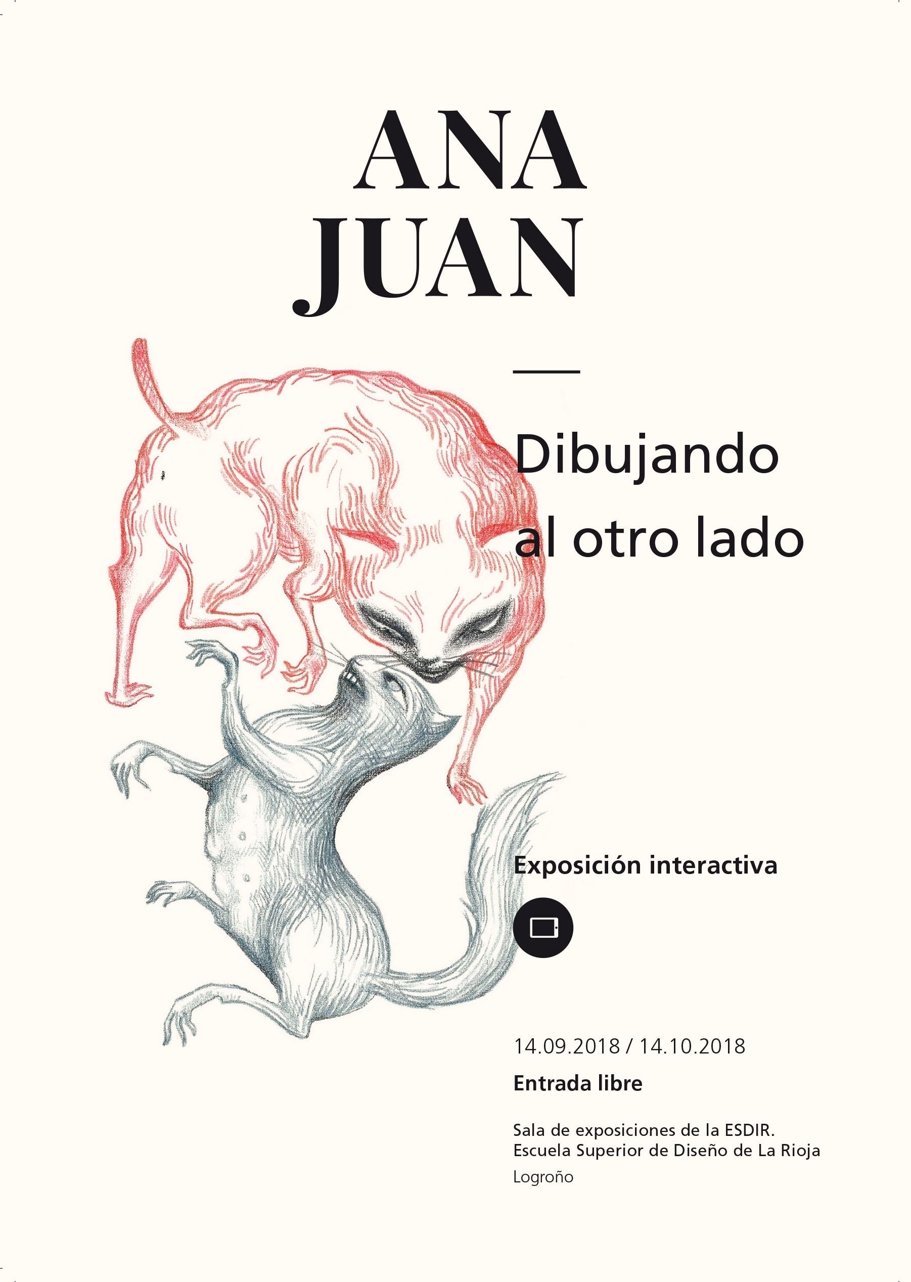 """""""Dibujando al otro lado"""", exposición interactiva de Ana Juan en la Esdir."""
