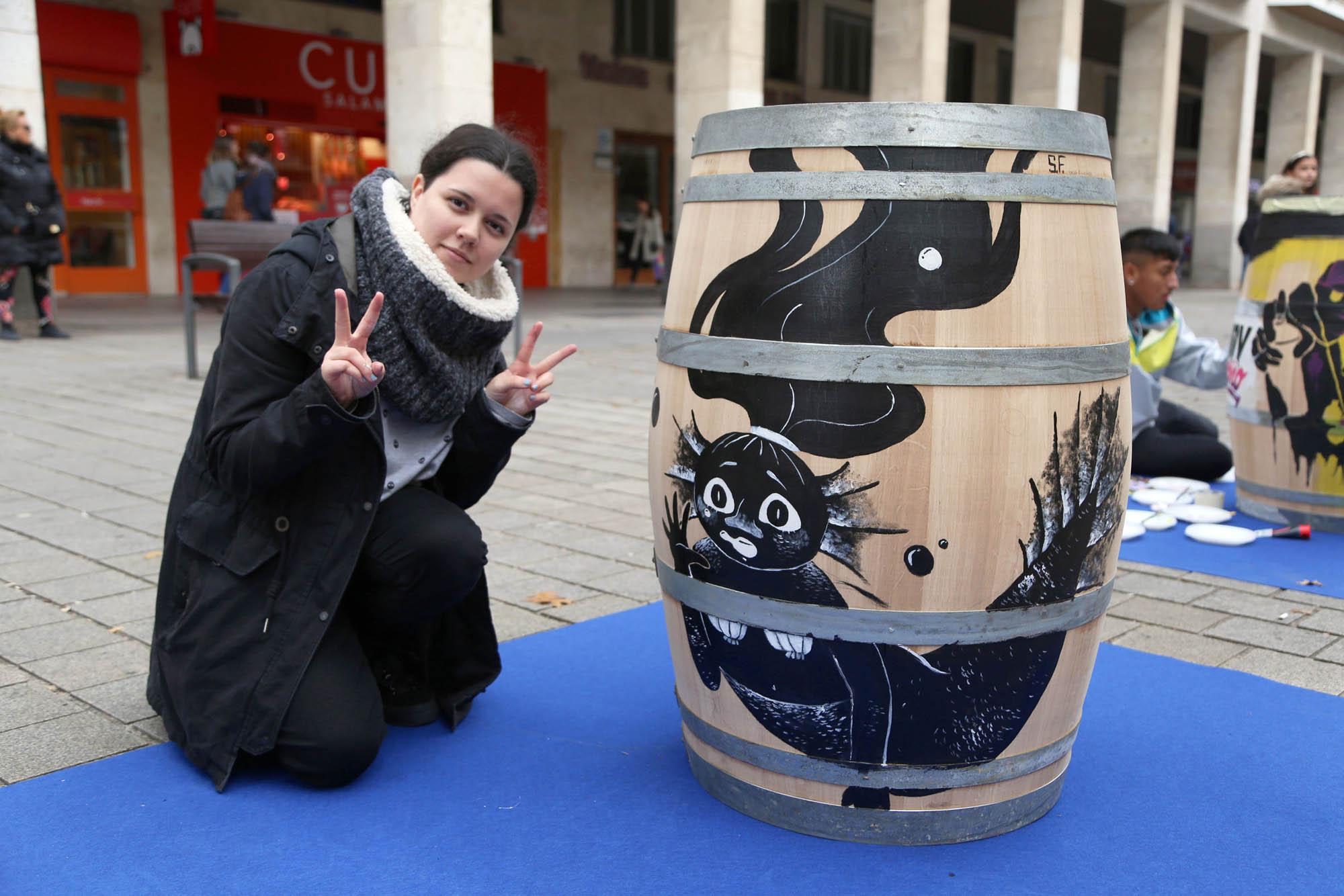 Alumnos de la Esdir en la Semana de arte y comercio de Logroño