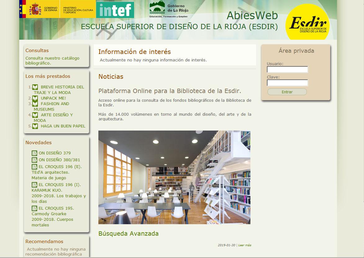 Acceso online a la Biblioteca de la Esdir