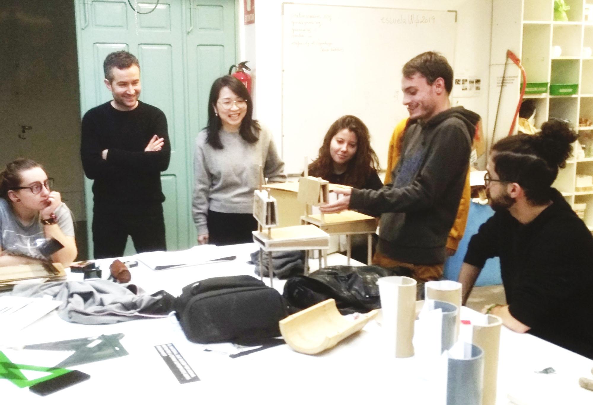 Visita Zhang Li y finalización del taller Open Design