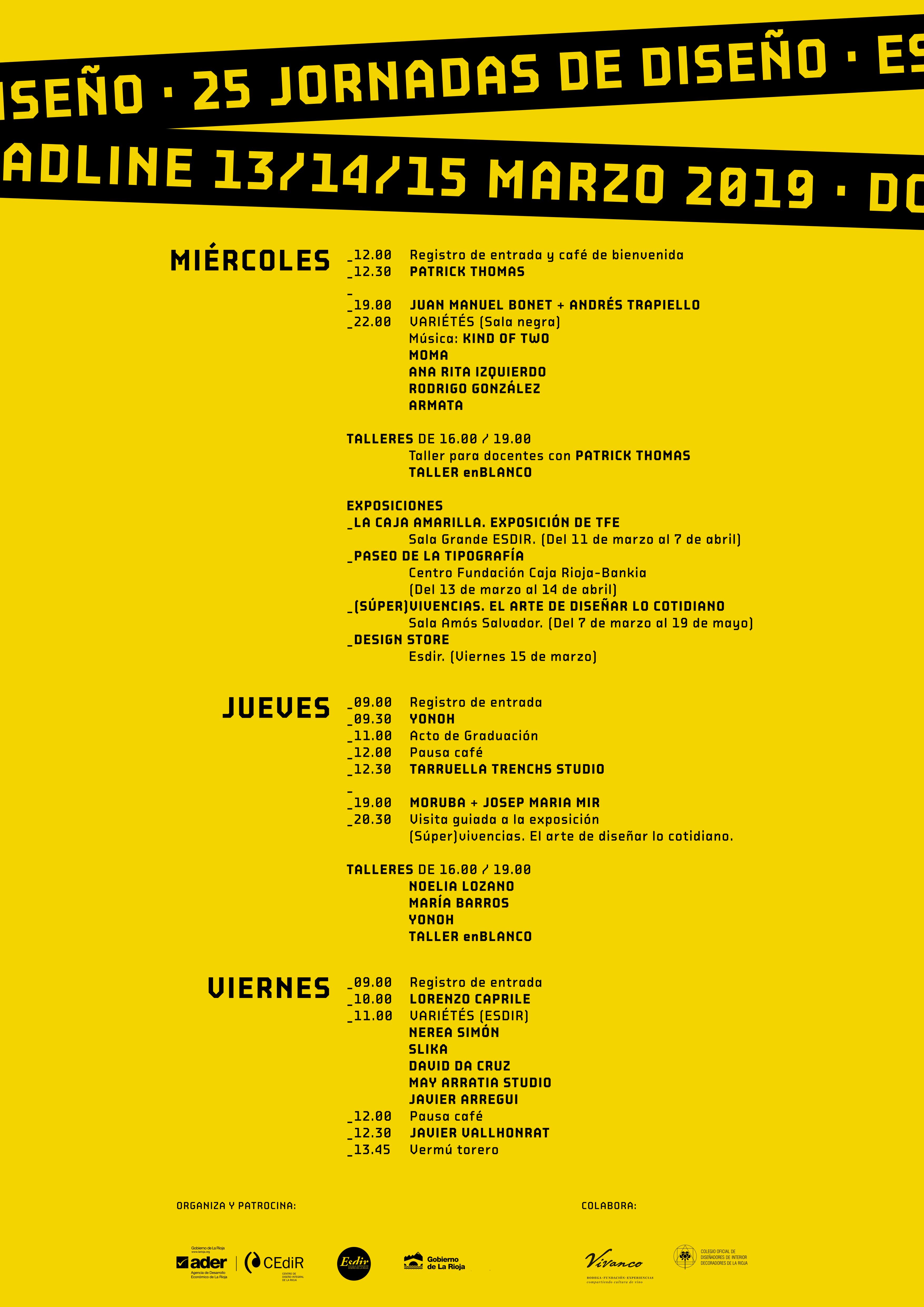 25 Jornadas de Diseño. Esdir