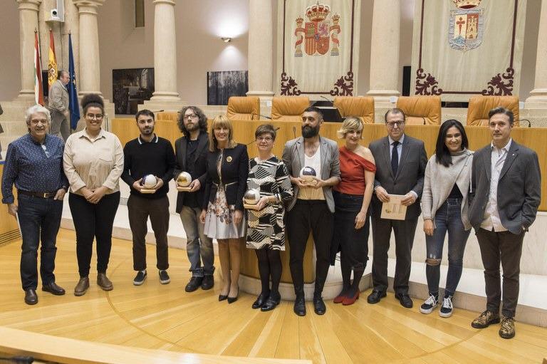 Entrega de premios del 11º Certamen de Pintura del Parlamento de La Rioja