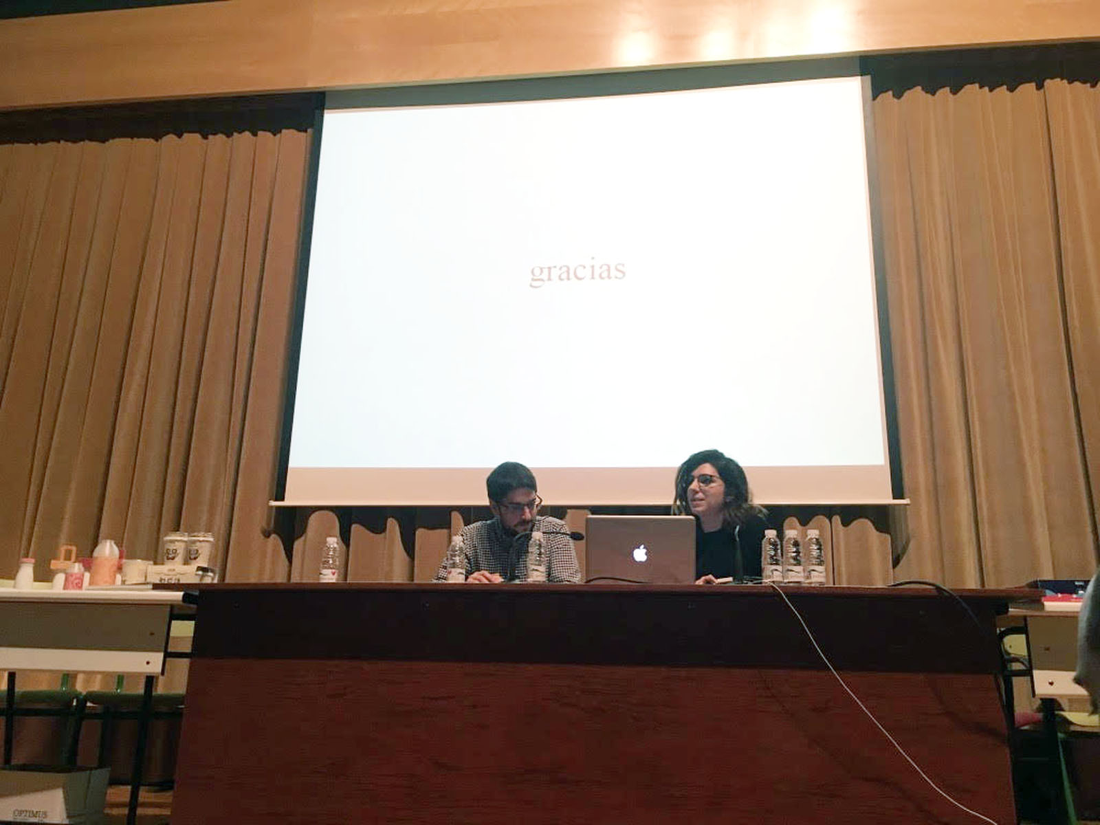 Marta Terrazas y José Luis Casaoen el Máster de Packaging