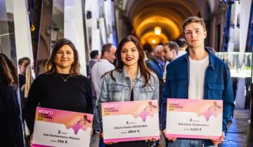 Chiara Arancibia de 4º de Producto, ganadora del Glass Design Contest