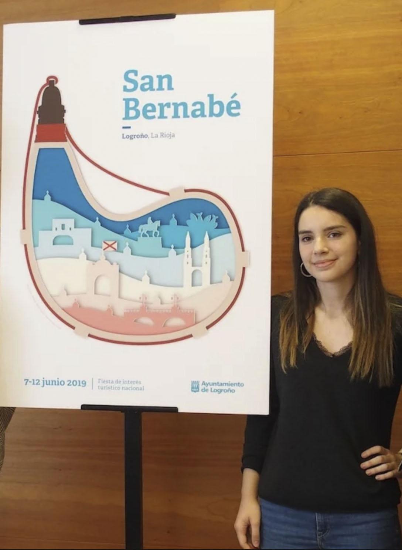 La alumna Ainhoa Urigoitia autora del Cartel de San Bernabé.