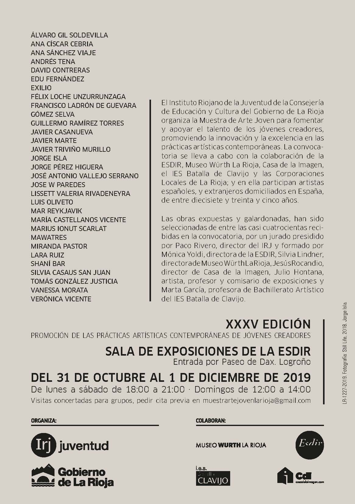 XXXV Muestra de Arte Joven en La Rioja