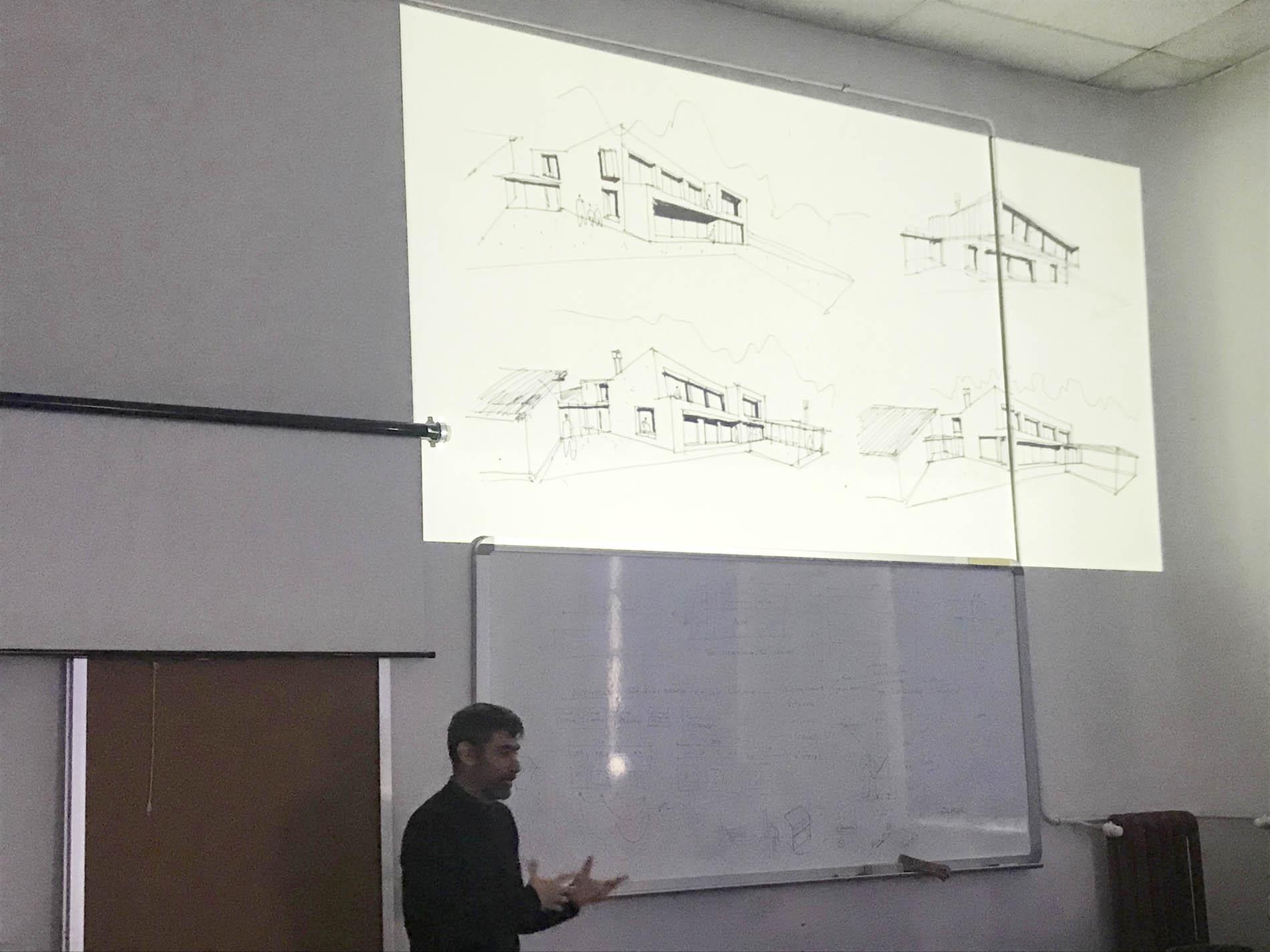 Sesión de Rodar, estudio de arquitectura y diseño, con 3º de Interiores
