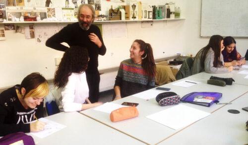 Taller con Santos Bregaña (Atelier Laia)