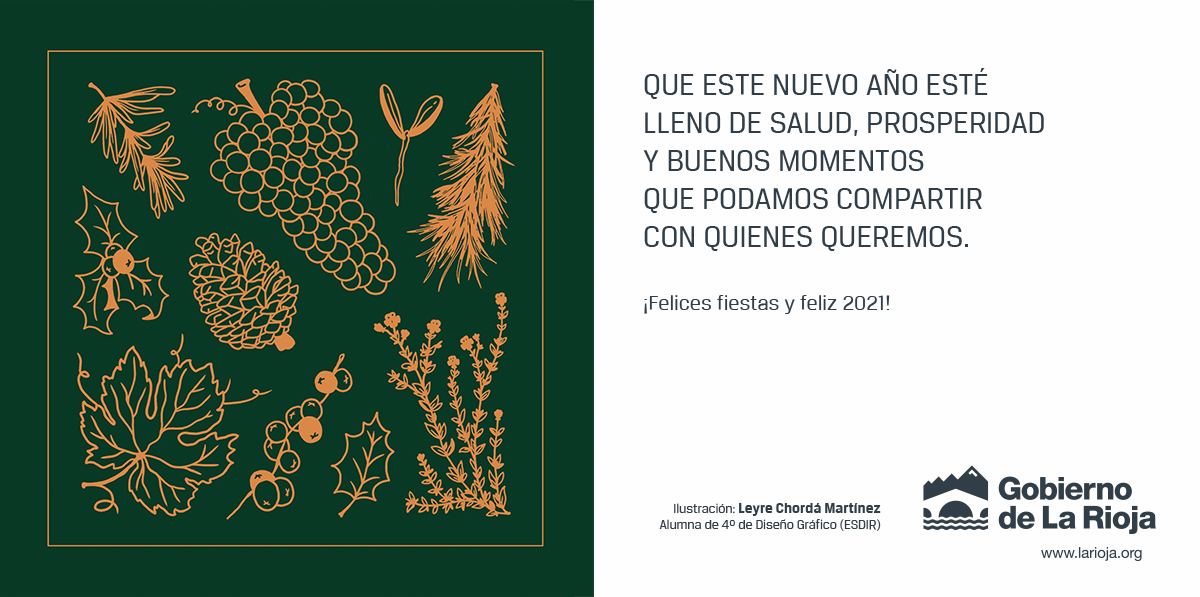 Leyre Chordá diseña la felicitación navideña de la Presidenta del Gobierno de La Rioja