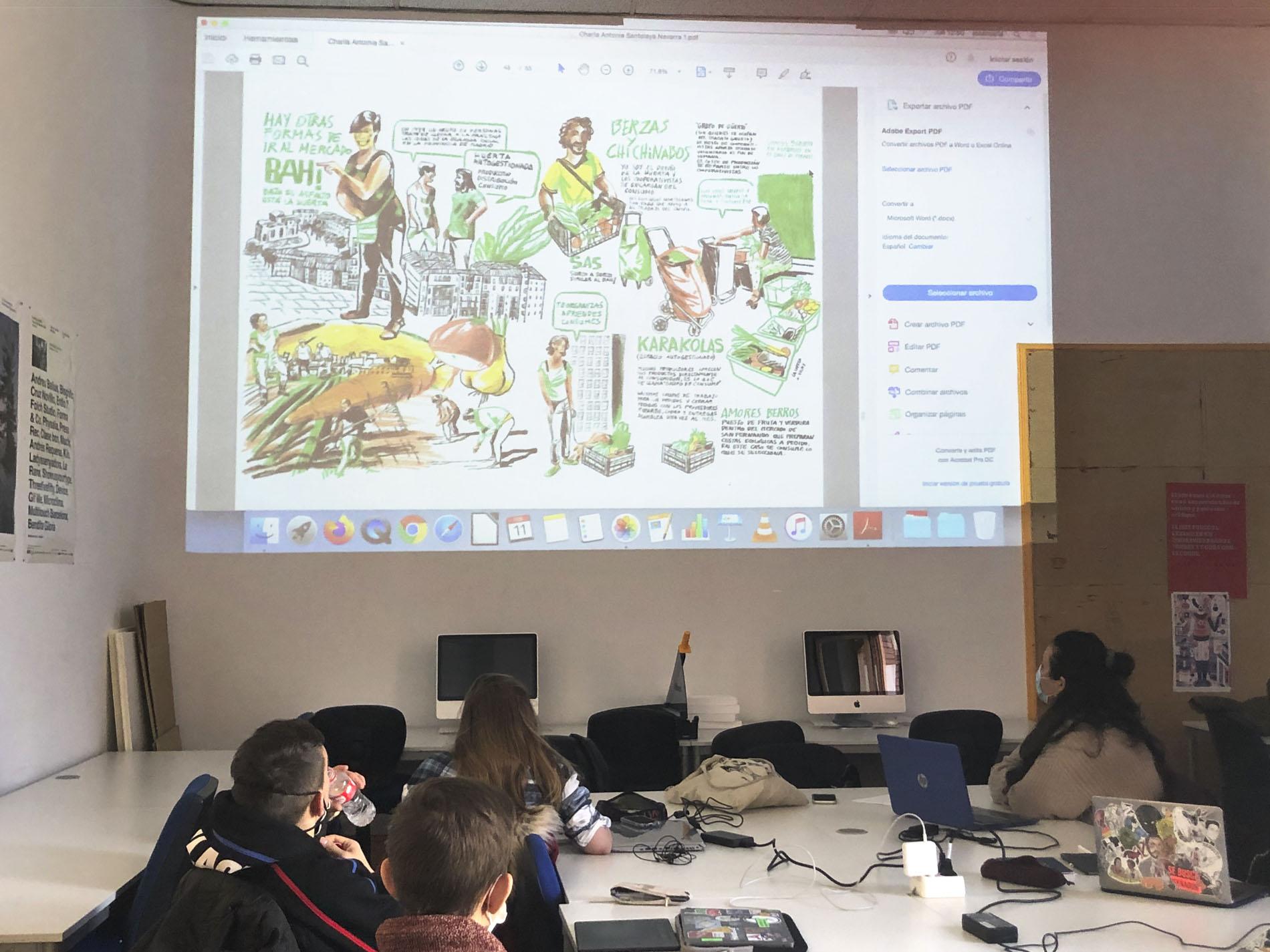 Charla de Antonia Santolaya para los estudiantes de ilustración editorial