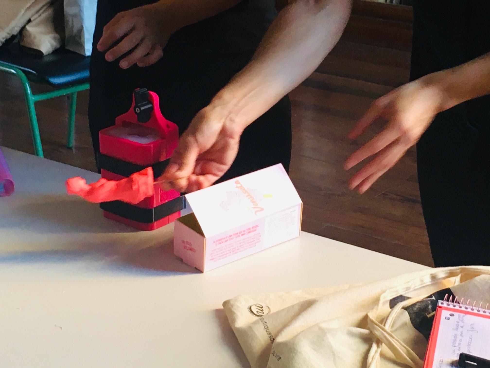 Las creadoras del helado La Venuseta visitan el Máster de Packaging.
