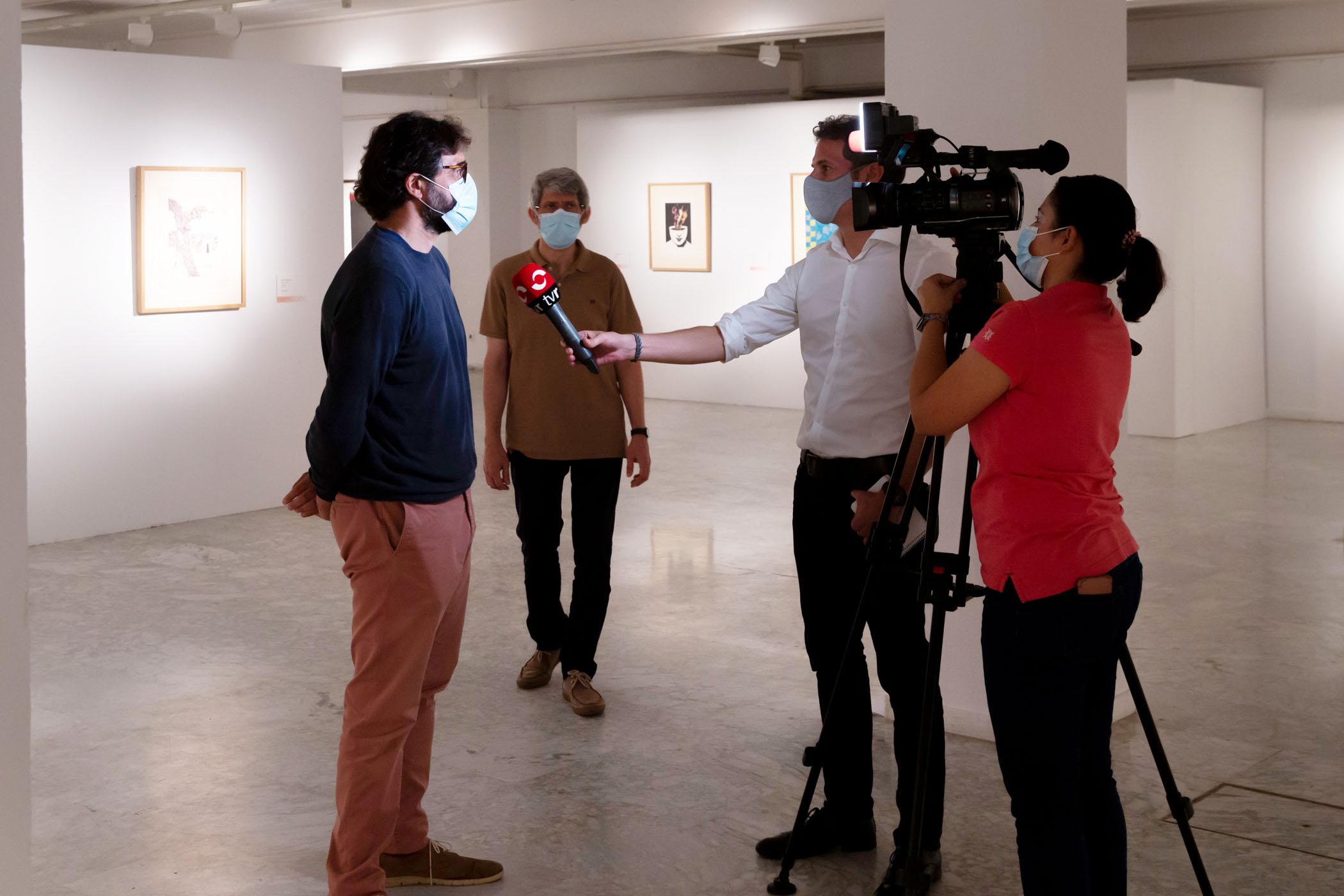 La Esdir acoge la exposición del XIII Premio de Grabado `Pedro Vivanco´