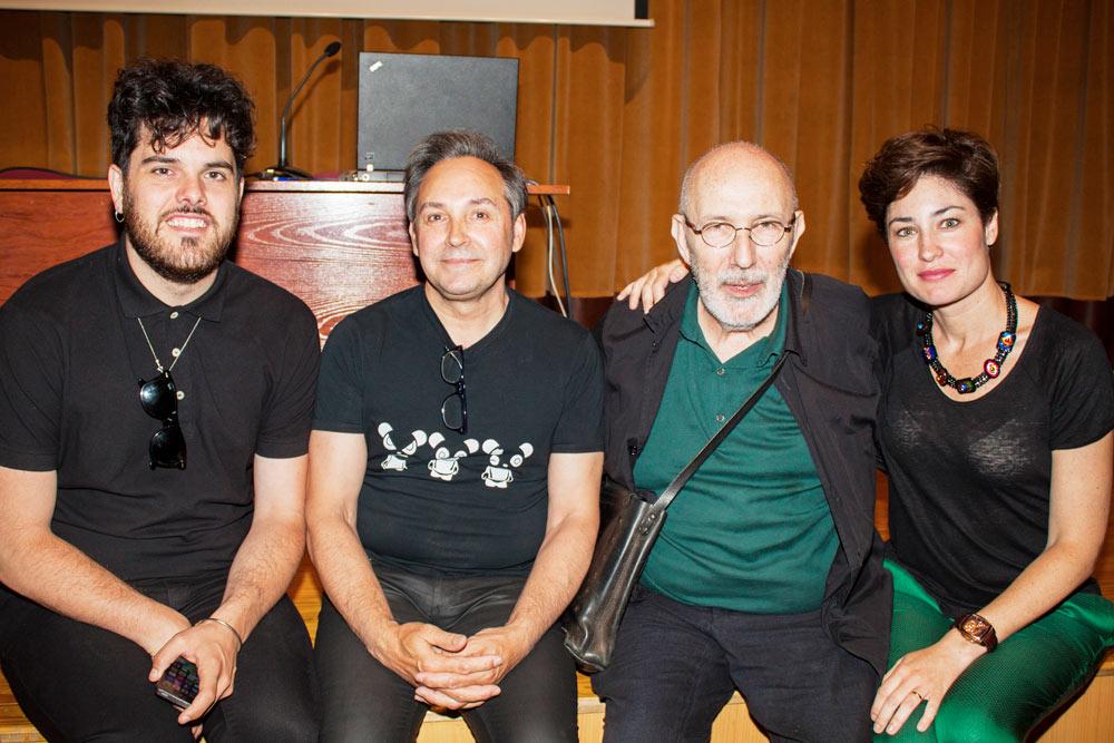 Antonio Miró y Leandro Cano en la defensa de los TFE de Diseño Moda