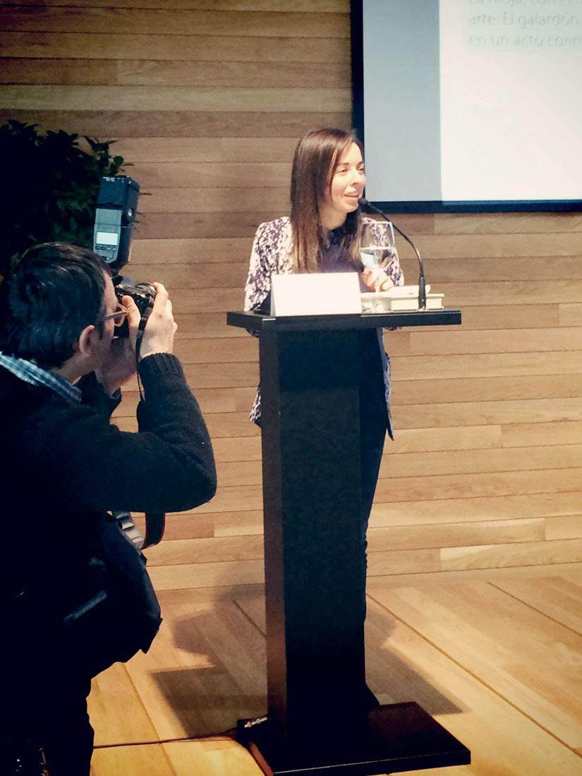 Entrega del premio 'Mujeres en el arte' a Mariví Sotés
