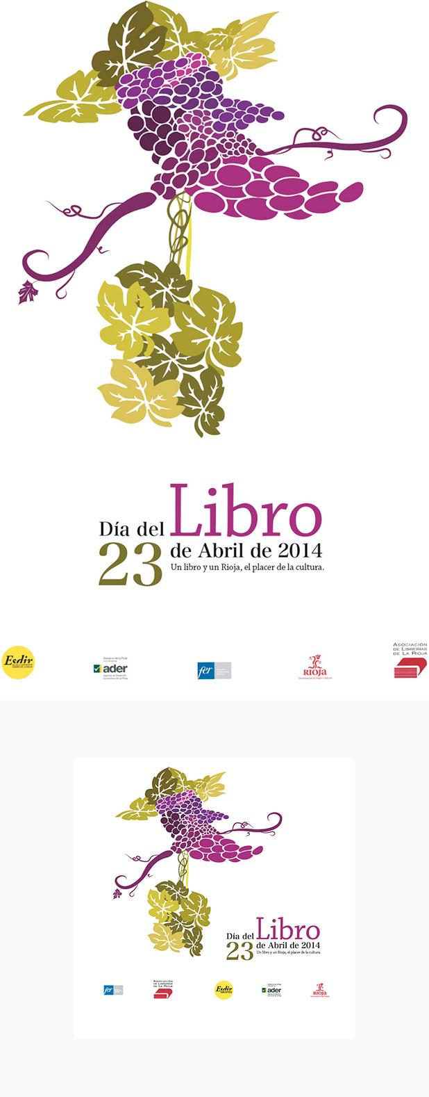 Ainhoa Ruiz, alumna de 2º de Diseño Gráfico, ganadora del concurso para el cartel-etiqueta del Día del Libro
