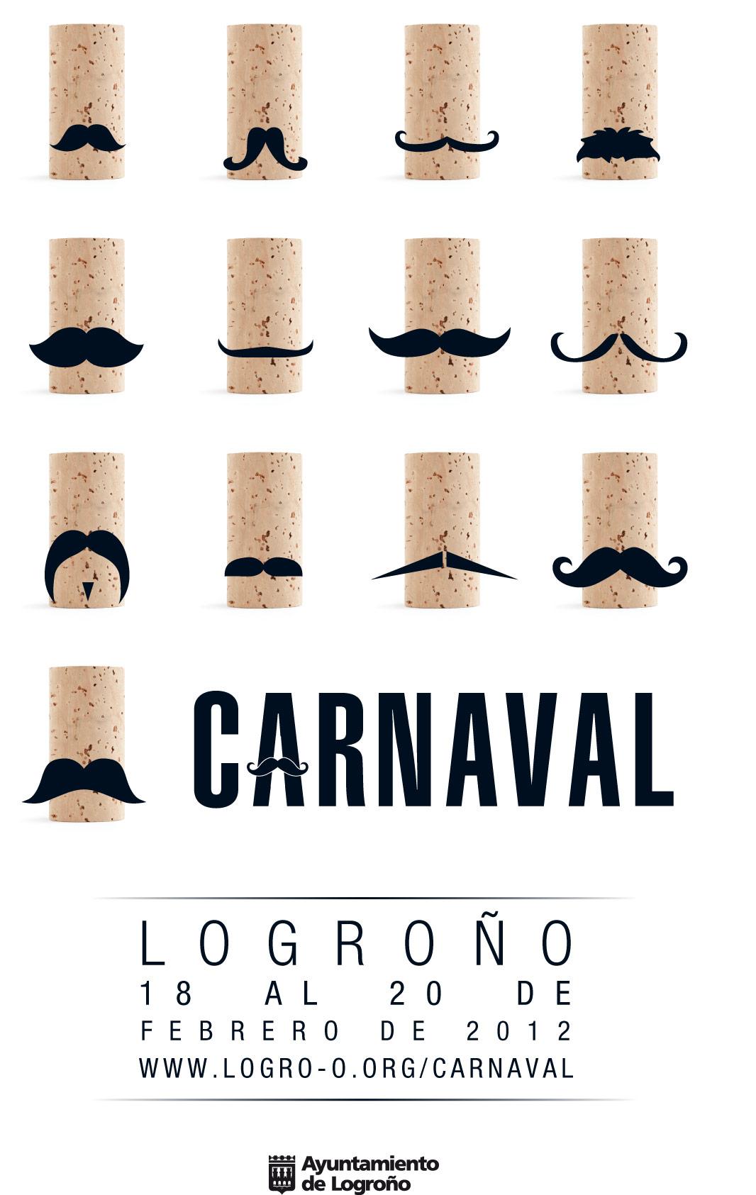 Raquel Díaz Romero y Álvaro Javier Jaimes, autores del cartel ganador del concurso Carnaval 2012