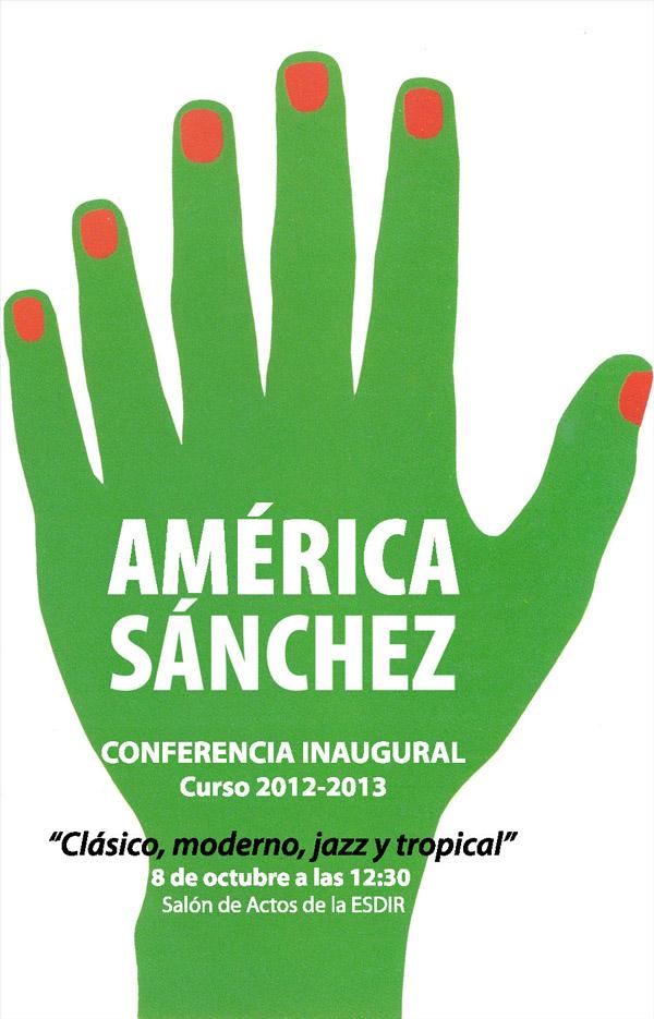 Conferencia del diseñador América Sánchez
