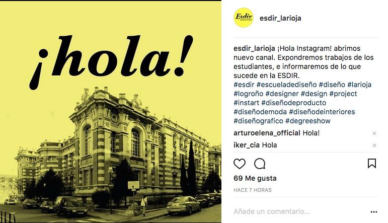 Nueva cuenta Instagram en la Esdir