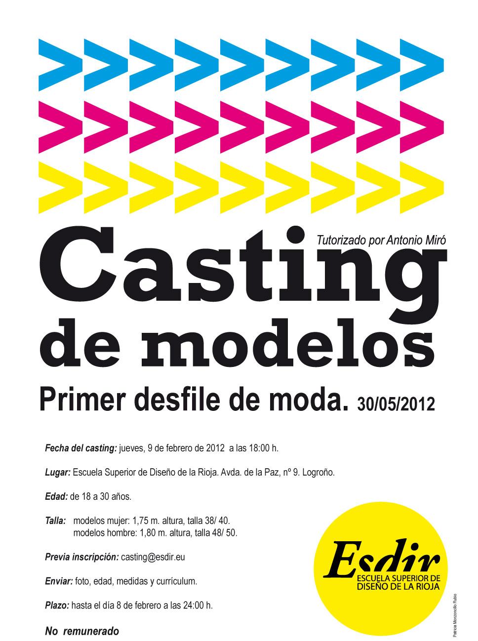Casting de modelos.
