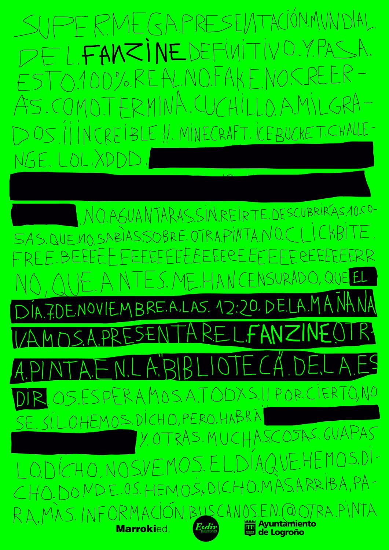 Presentación del fanzine Otra Pinta