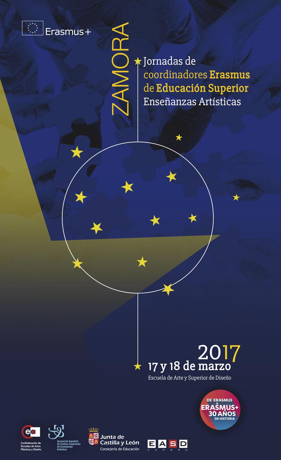 Jornadas de coordinadores Erasmus de Enseñanzas Artísticas en Zamora