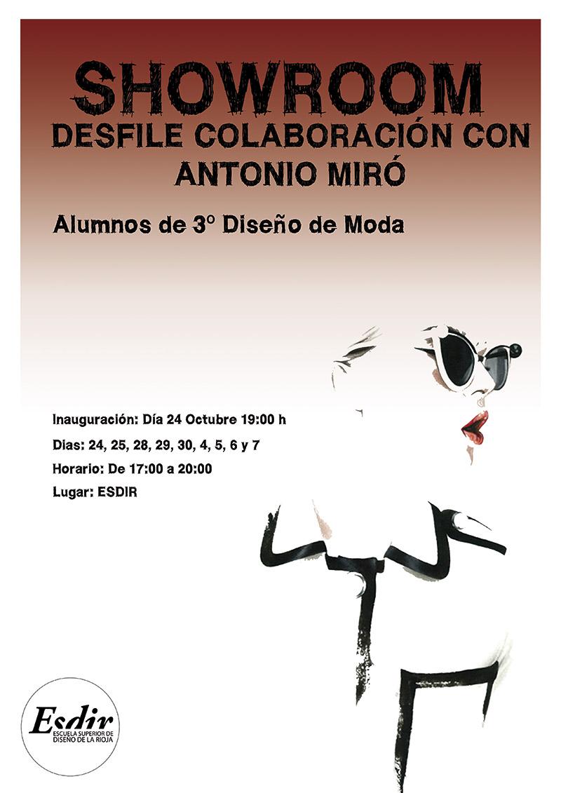 SHOWROOM · DESFILE COLABORACIÓN CON ANTONIO MIRÓ