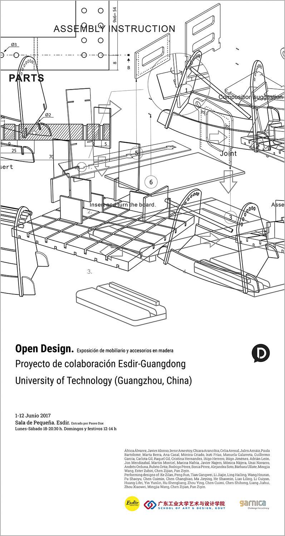 Exposición OpenDesign en la Esdir. Diseños de mobiliario en madera de estudiantes de 2º y 4º de Producto