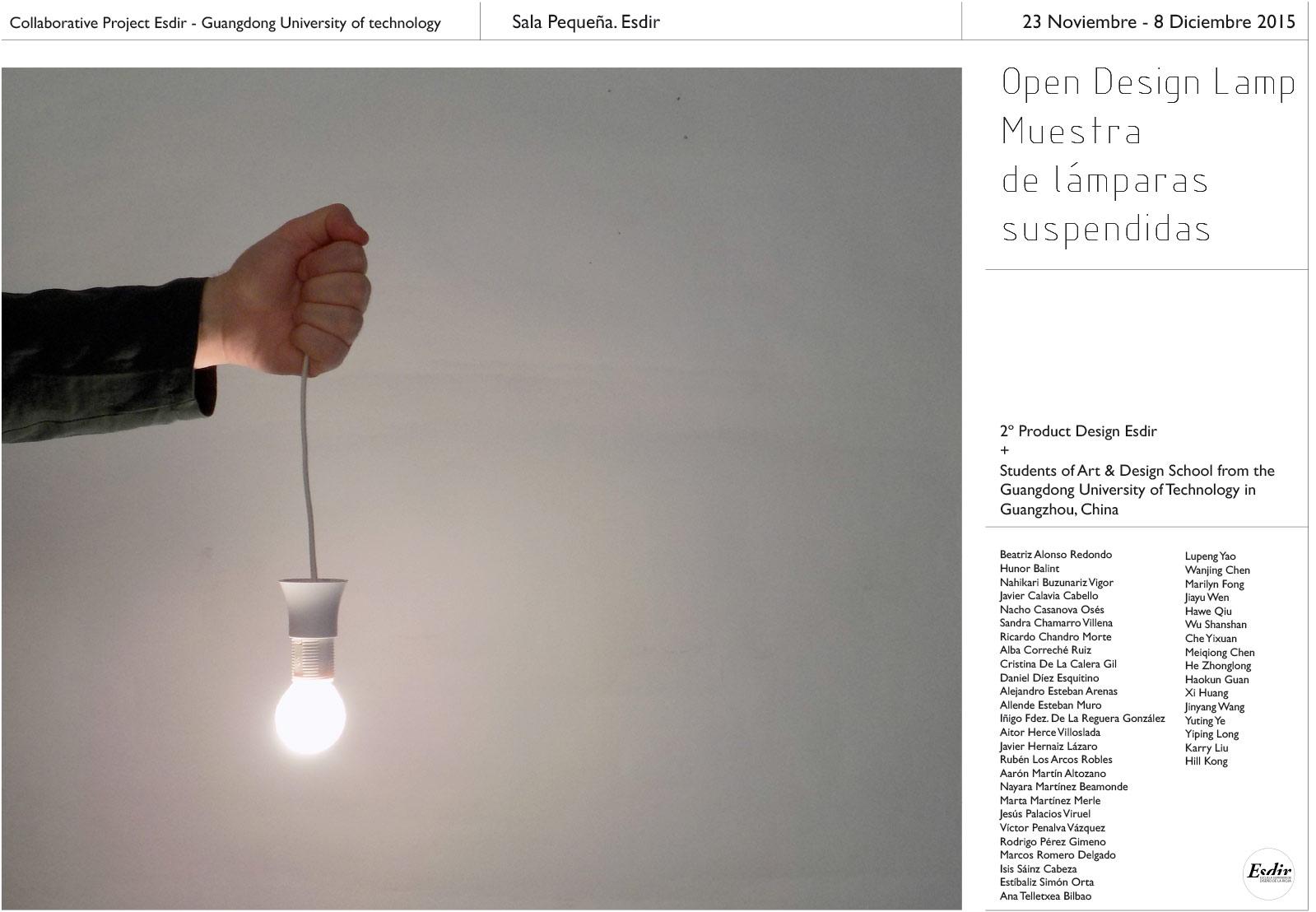 Exposición de lamparas suspendidas, proyecto OpenDesign.