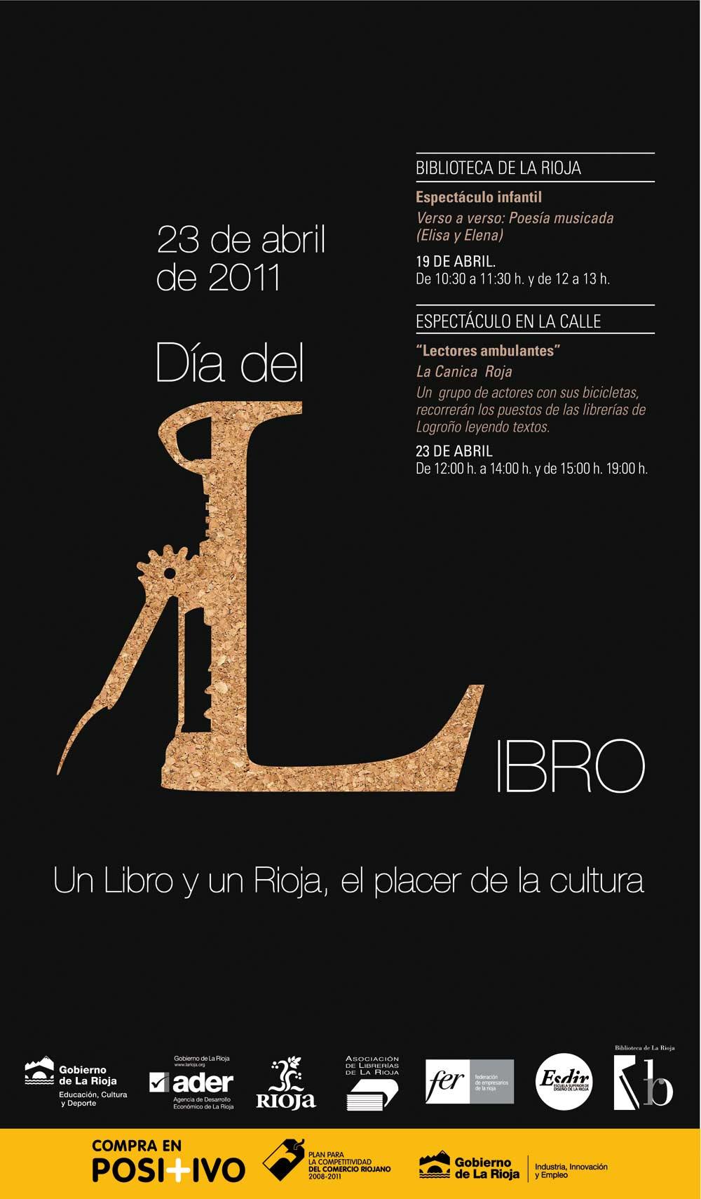 Primer Premio para Cartel y Etiqueta de Un libro y un Rioja '11