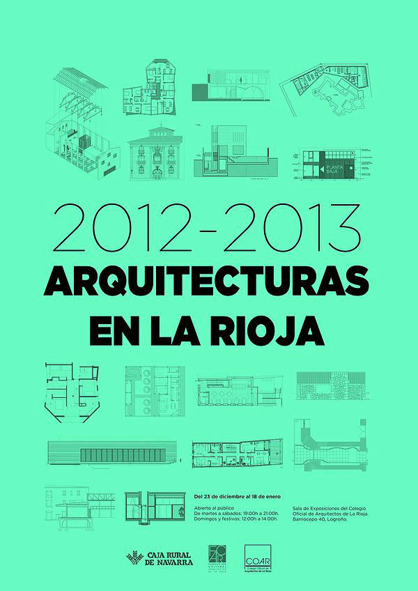 Exposición arquitecturas en La Rioja 2012-2013