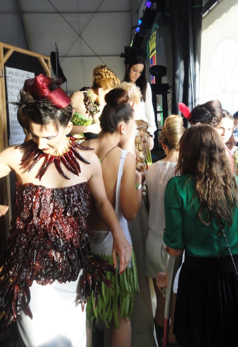 Desfile de Moda con Hortalizas