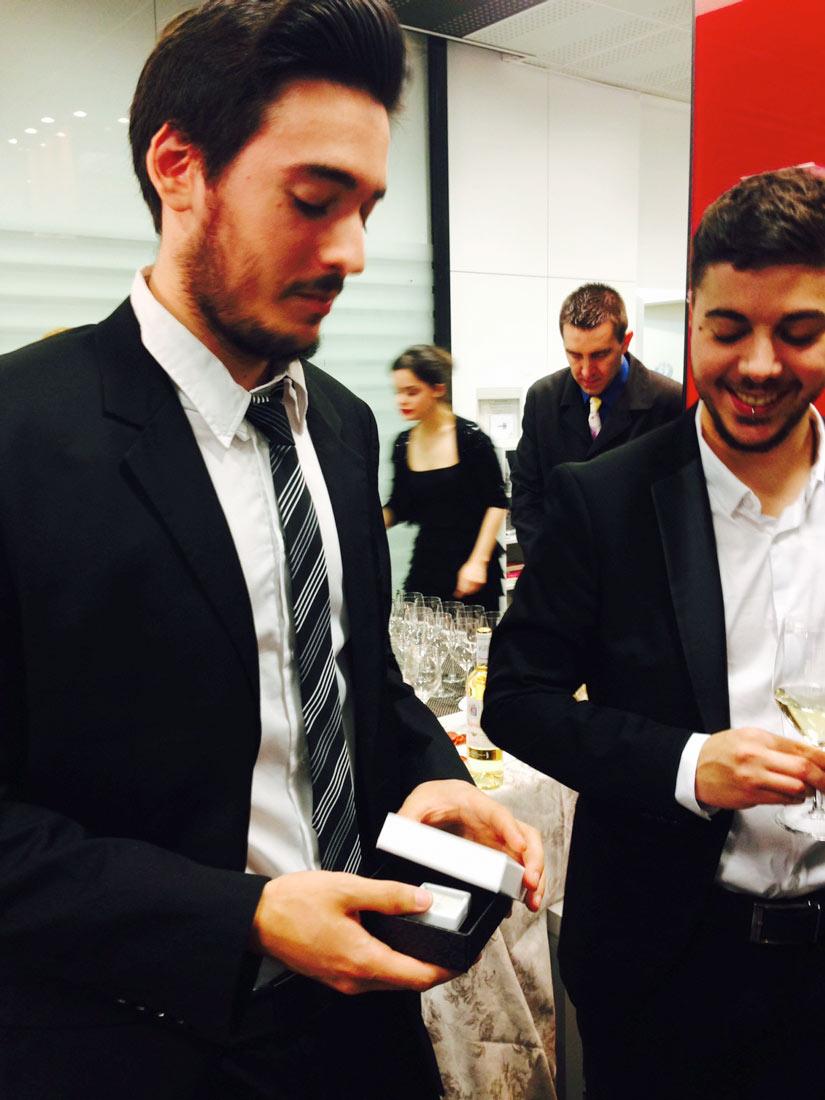 """David Fernández, premio al mejor Cartel de la exposición """"Cita con Diamantes"""""""
