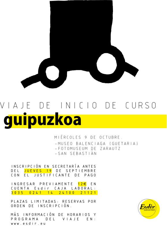 Viaje de inicio de curso 13-14 a Gipuzkoa