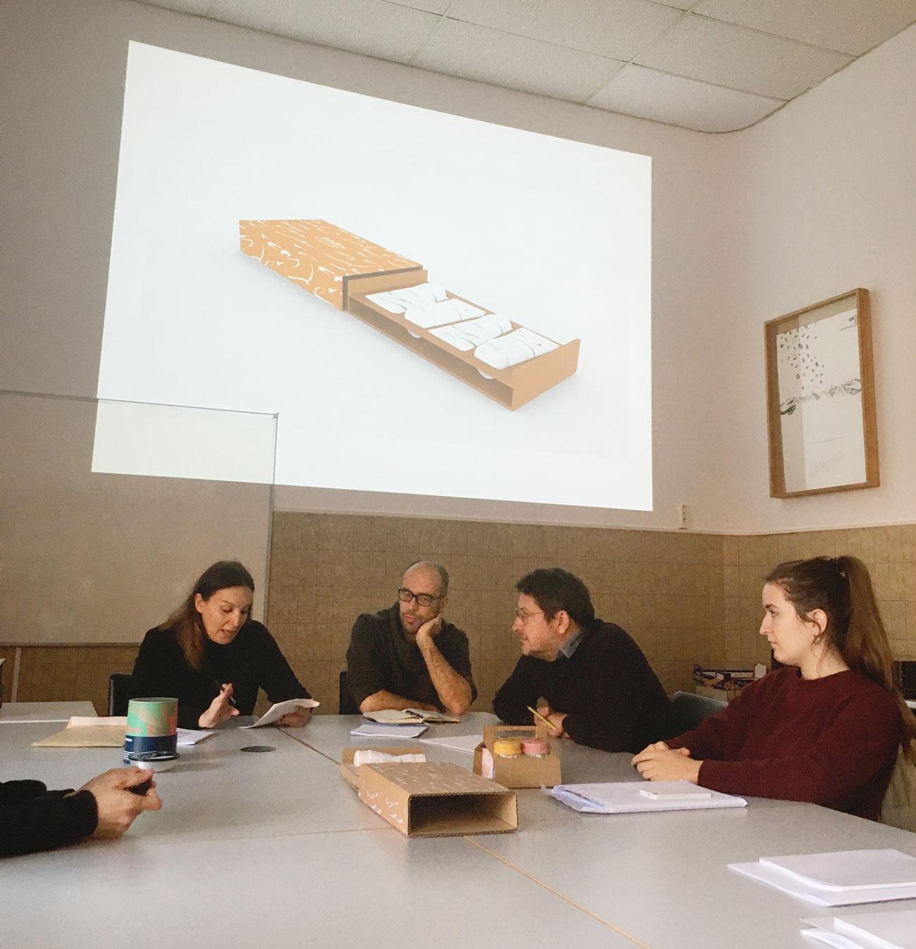 Albert Martínez López-Amor, Víctor Palau y Ana Gea en el Máster de Packaging