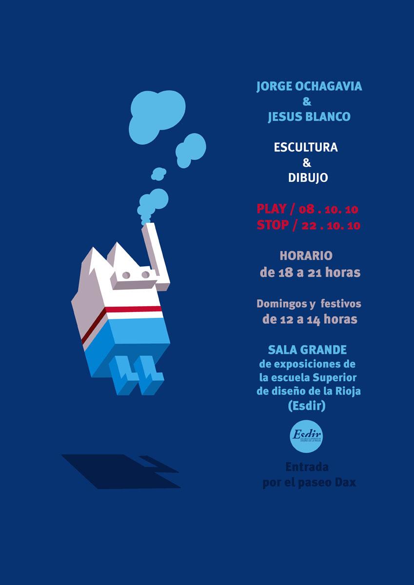 Exposición de Jorge Ochagavía y Jesús Blanco en la Esdir