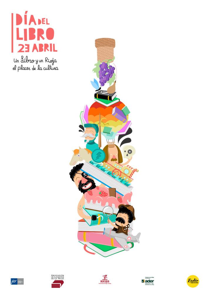 Cartel-etiqueta para celebrar el Día del Libro 12