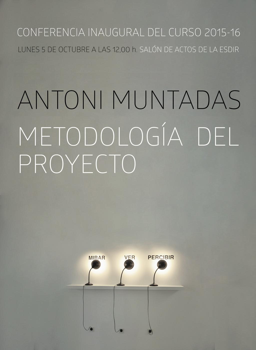 Conferencia inaugural a cargo de Antoni Muntadas. Curso 2015/16