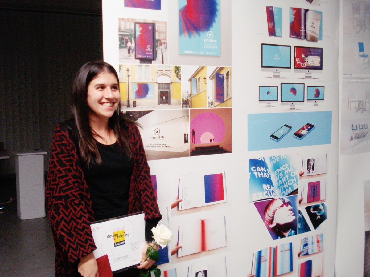 Nerea Simón, alumna de gráfico, gana el 3er PREMIO en el concurso internacional DesignMeeting 2015