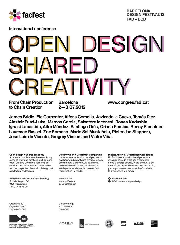 Congreso Internacional Open Design / Shared Creativity