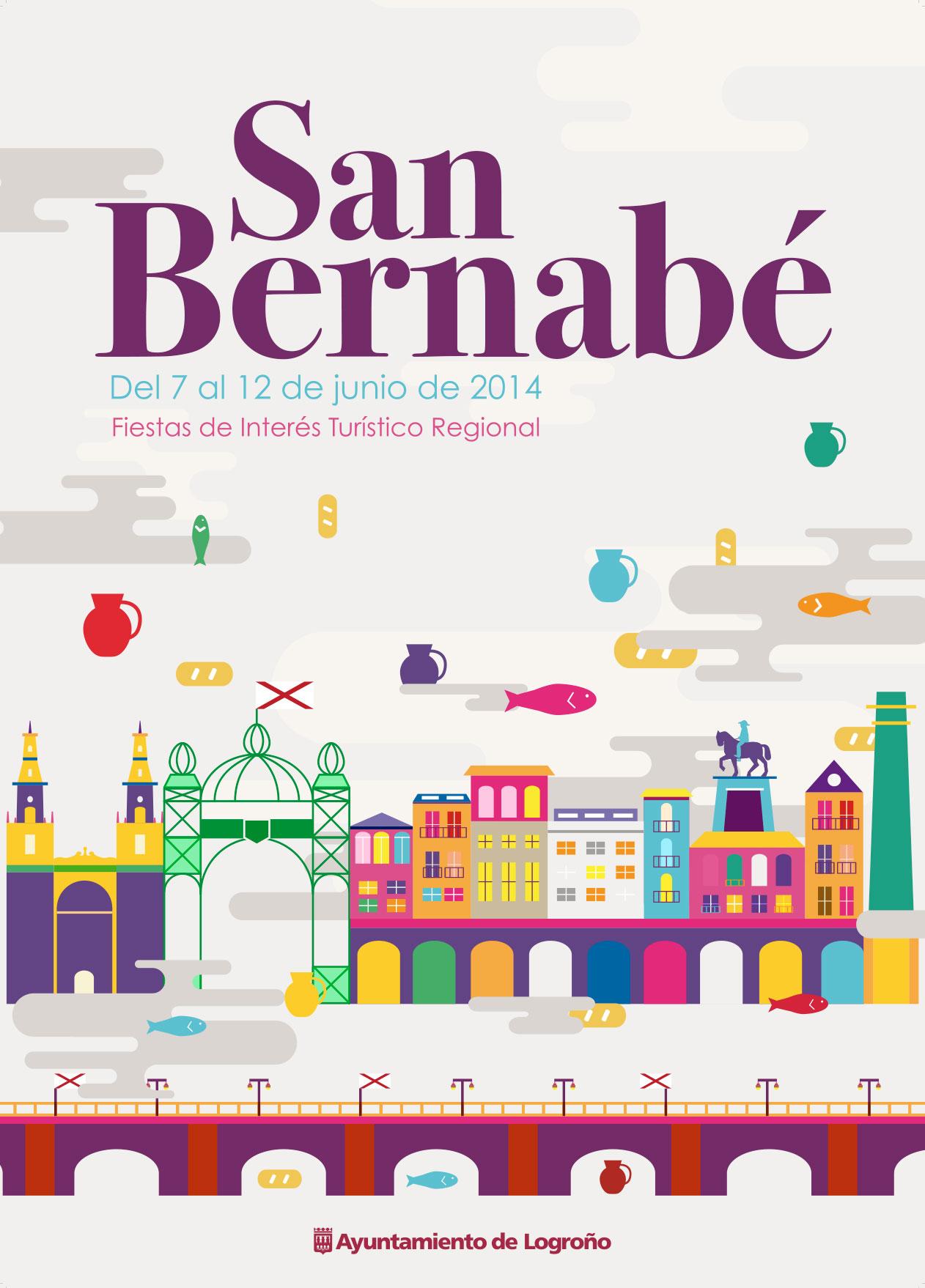 Álvaro Jaimes, alumno de 3º de Diseño Gráfico, autor del cartel de San Bernabé 2014