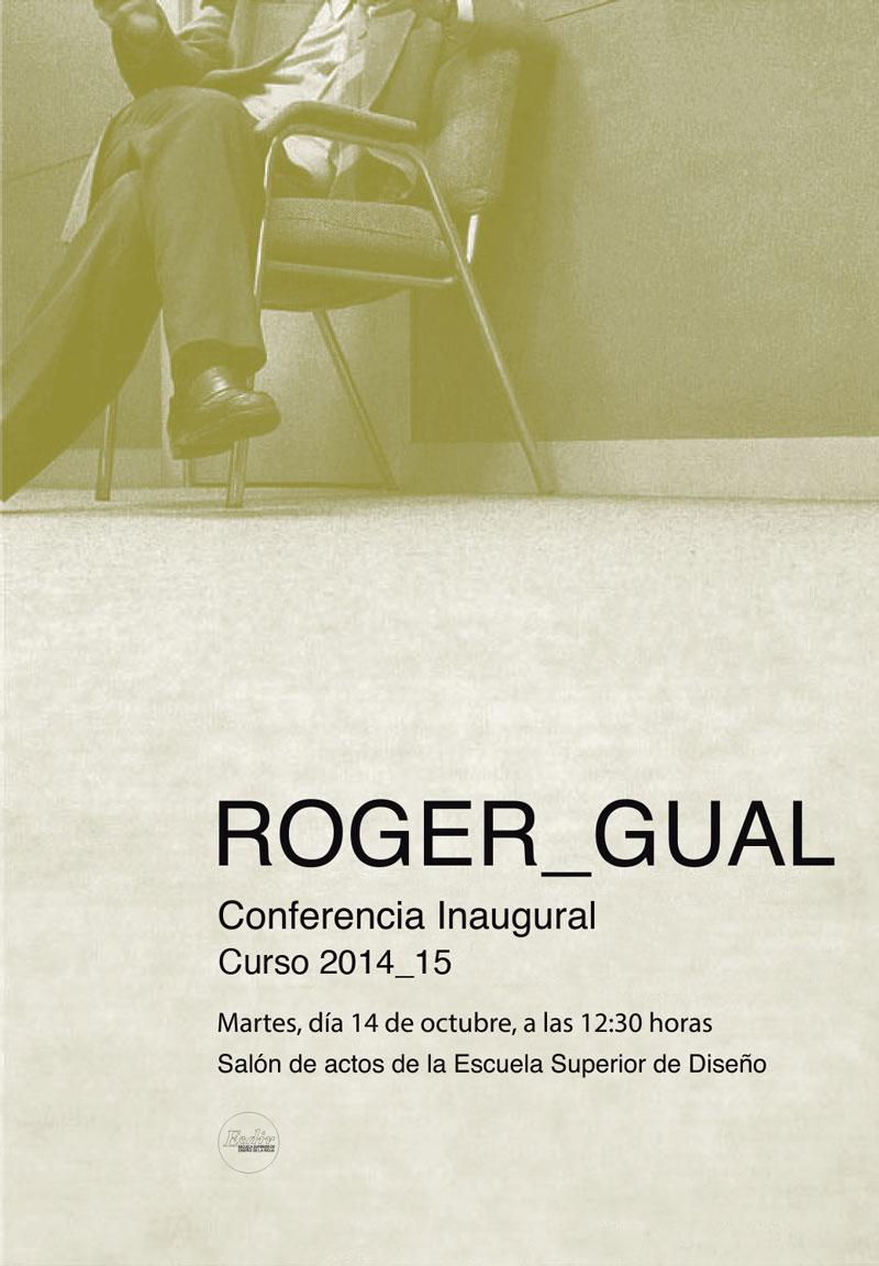 Conferencia inaugural a cargo de Roger Gual. Curso 2014/15