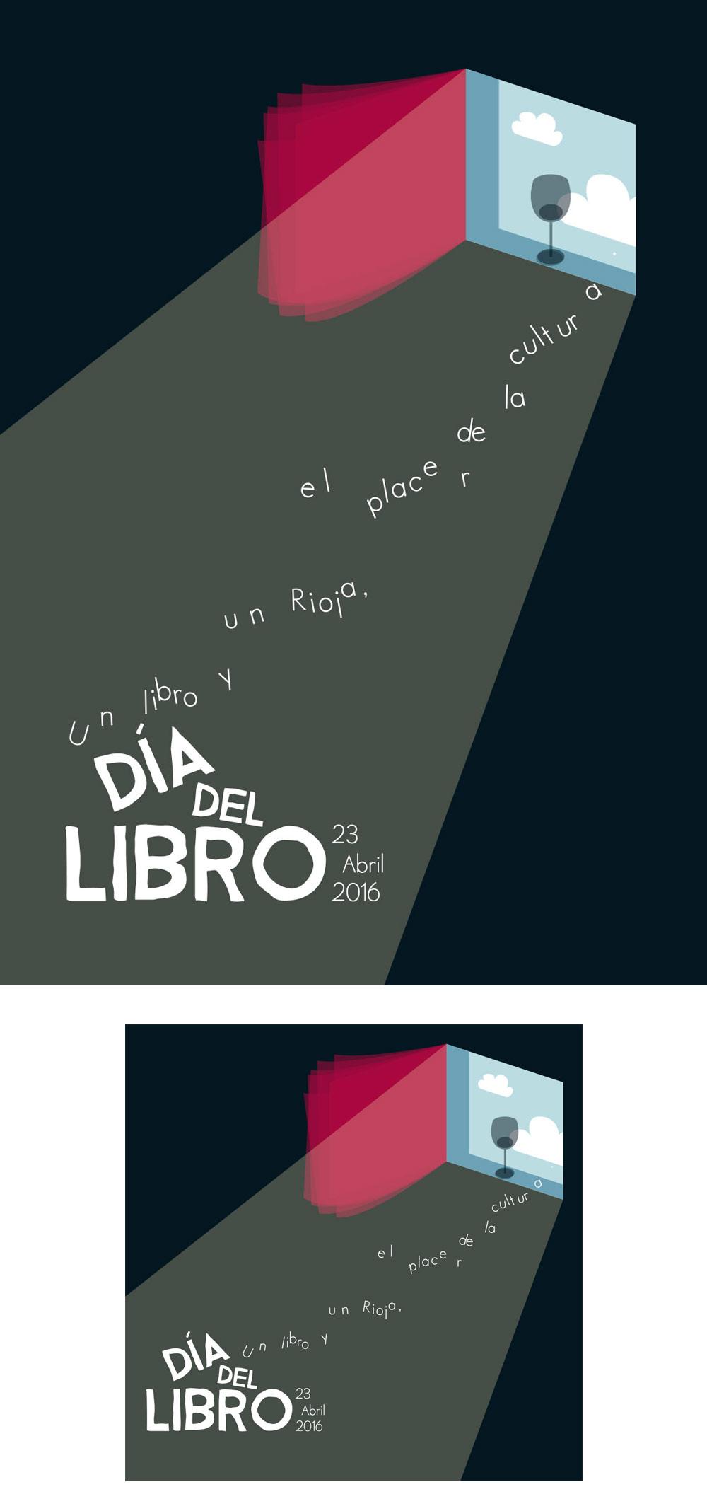Rocio Ávila primer premio del concurso para el cartel-etiqueta del día del libro.