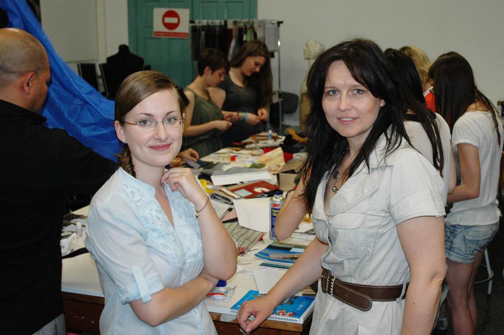 Taller de moda con la diseñadora y profesora Monika Kostrzewa