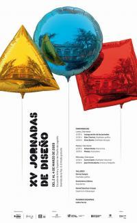 Cartel anunciador de las XV Jornadas de Diseño