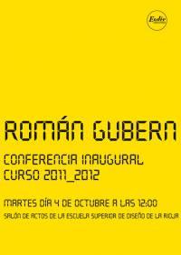 Conferencia Inaugural a cargo de Román Gubern. Curso 2011-12