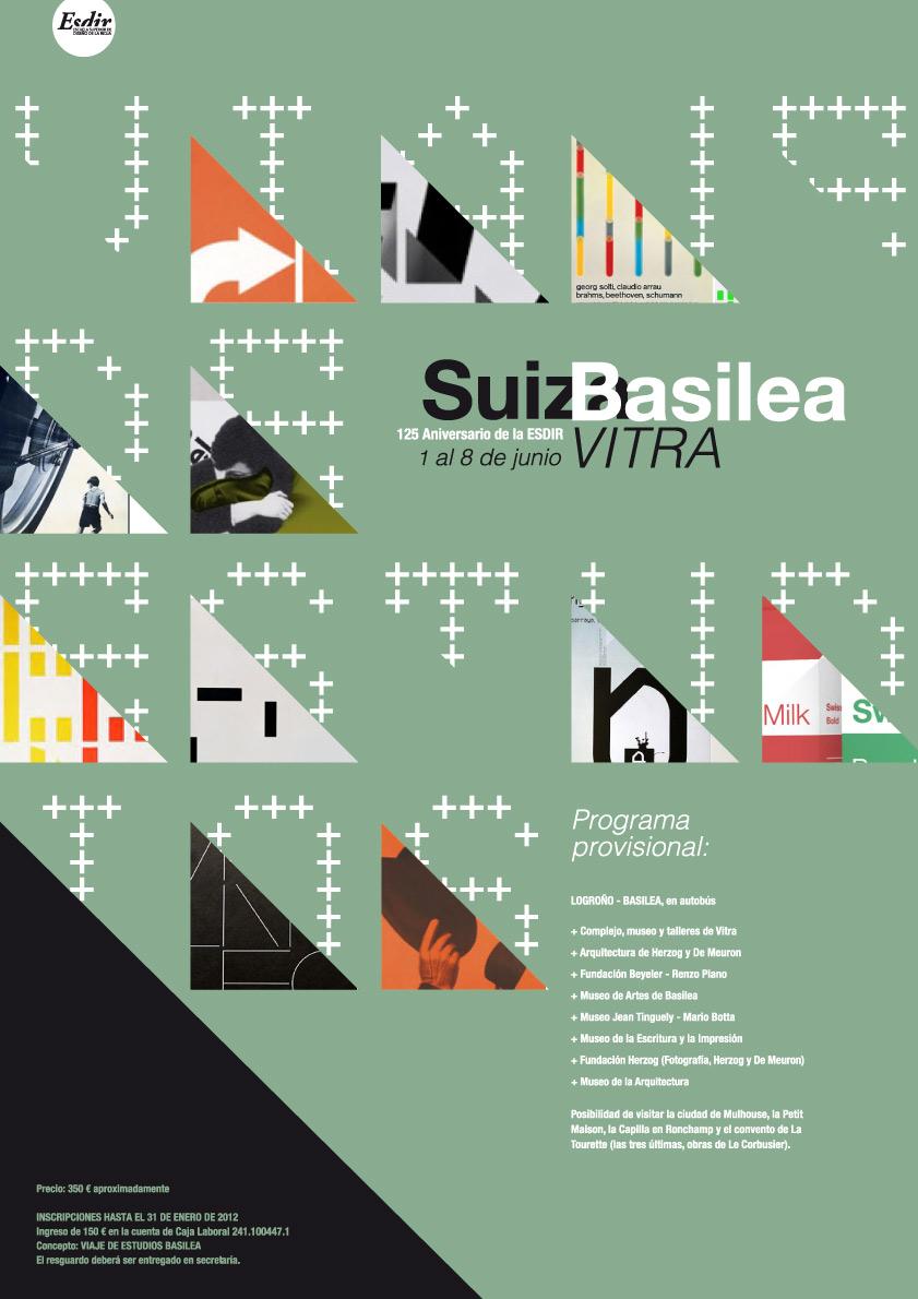 VIAJE DE ESTUDIOS: SUIZA-BASILEA (VITRA). Del 1 al 8 de Junio